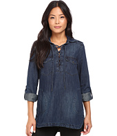 Blank NYC - Denim Lace-Up Shirt in Hangover Helper