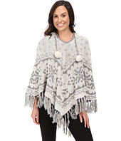 P.J. Salvage - Fair Isle Reversible Knit Poncho
