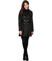 Jessica Simpson - Sueded Rain Trench with Double Breasted Buttons