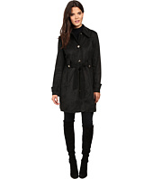 Jessica Simpson - Sueded Rain Trench with Stitching Detail Single Breasted Belted