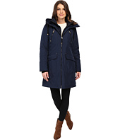Jessica Simpson - Quilted Fill Puffer with Hood and Fleece Bib