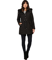 Jessica Simpson - Quilted Fill Puffer w/ Drawstrings Hood and Removable Faux Fur