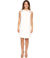 Tahari by ASL Petite - Petite Mesh Shoulder Crepe Shift Dress