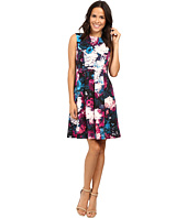 Adrianna Papell - Lined Renaissance Printed Suba Fit and Flare Dress