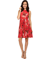Adrianna Papell - Printed Pleated Fit and Flare Dress