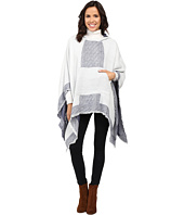 Vince Camuto - Border Poncho w/ Center Pocket