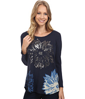 Lucky Brand - Halftone Flower Metallic Top
