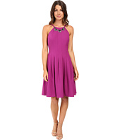 Adrianna Papell - Seamed Dropped Fit and Flare Dress
