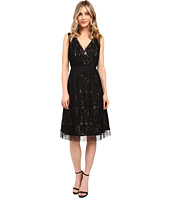 Adrianna Papell - Netting Overlay Juliet Lace Fit and Flare Dress