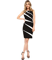Adrianna Papell - Radiating Inserts Crepe Sheath Dress