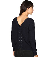 Brigitte Bailey - Francesca Lace-Up Long Sleeve Sweater