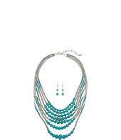 M&F Western - 7 Strand Beaded Necklace/Earrings Set