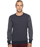Ben Sherman - Long Sleeve Semi Plain Crew Sweat Top