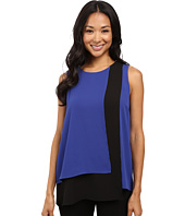 Vince Camuto - Sleeveless Color Blocked Layered Blouse