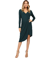 Christin Michaels - Ailie Long Sleeve Crossed Dress