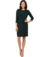 Tahari by ASL - Side Wrap 3/4 Sheath Dress with Gold Hardware