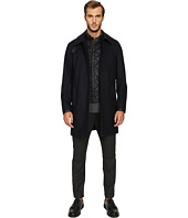 The Kooples - Flannel Trenchcoat w/ Removable Waistcoat