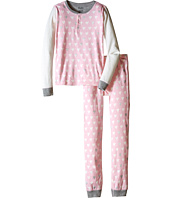 Hatley Kids - Metallic Hearts Henley Pajama Set (Toddler/Little Kids/Big Kids)