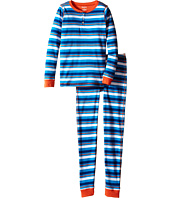 Hatley Kids - Blue & Orange Stripe Henley Pajama (Toddler/Little Kids/Big Kids)