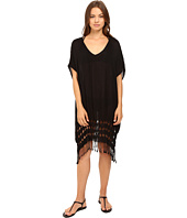 Bleu Rod Beattie - Feeling Knotty Knot Fringe Caftan Cover-Up