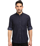 John Varvatos Star U.S.A. - Slim Fit Button Down Collar Sport Shirt w/ Roll Up Sleeve and Single Chest Pocket, Short Hem Length W530S3B