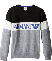 Armani Junior - Armani Logo Sweater (Toddler/Little Kids/Big Kids)