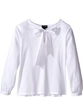Oscar de la Renta Childrenswear - Cotton Bow Blouse (Toddler/Little Kids/Big Kids)