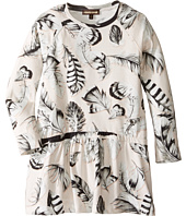 Roberto Cavalli Kids - Long Sleeve All Over Print Drop Waist Dress (Toddler/Little Kids)