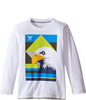 Armani Junior - Eagle Logo Tee (Toddler/Little Kids/Big Kids)