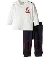 Junior Gaultier - Set with White Tee Shirt with Bear and Blue Sweatpants (Infant)