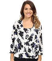 NYDJ Petite - Petite Drape Front Blouse with Built in Cami