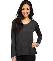 NYDJ Petite - Petite Mixed Media V-Neck Sweater