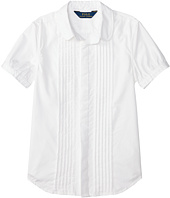 Polo Ralph Lauren Kids - Broadcloth Pleated Shirt (Big Kids)