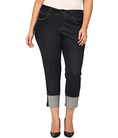 Jag Jeans Plus Size - Plus Size Evan Long Cuff Slim Ankle in Rinse Capital Denim