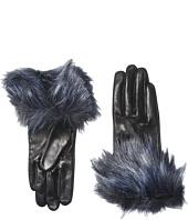 Kate Spade New York - Faux Fox Fur Short Gloves
