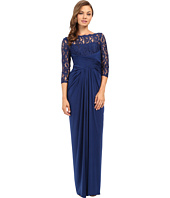 Adrianna Papell - Lace and Venician Jersey Gown