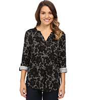 NYDJ Petite - Petite Knit Henley Blouse with Convertible Sleeve