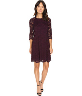 Vince Camuto - Lace Raglan Lace Sleeve Fit and Flare