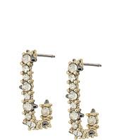 Alexis Bittar - Crystal Encrusted Mini Link Huggie Earrings