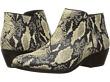Modern Ivory Rock Snake Print Leather