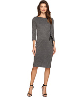 Christin Michaels - Lillia Side Lace-Up Bodycon Midi Dress