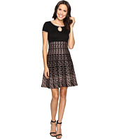 Christin Michaels - Saida Short Sleeve Sweater Dress with Keyhole