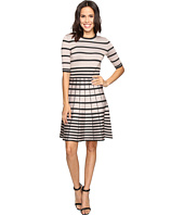 Christin Michaels - Namana Striped Fit and Flare Dress
