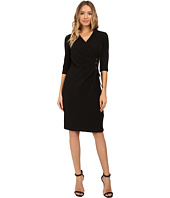 Christin Michaels - Jullie 3/4 Sleeve Wrap Dress
