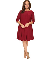 Christin Michaels - Plus Size Andrea 3/4 Sleeve Fit and Flare Dress