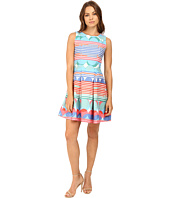 Christin Michaels - Kai Cotton Jacquard Fit and Flare Dress