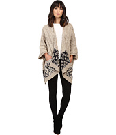 Christin Michaels - Natallia Cable Knit Aztec Poncho