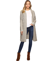 Christin Michaels - Zienna Collared Cable Knit Long Cardigan