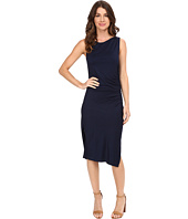 Three Dots - Sleeveless Dress with Side Shirring A