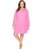 LAUREN Ralph Lauren - Plus Size Long Sleeve Popover Sleepshirt